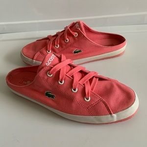 LACOSTE sport pink athletic shoes slide on